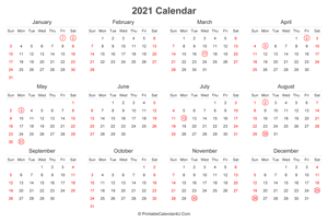 2021 calendar with uk bank holidays highlighted landscape layout