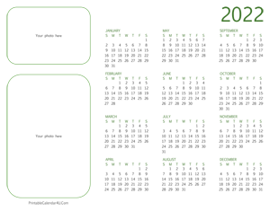 2022 photo calendar landscape layout