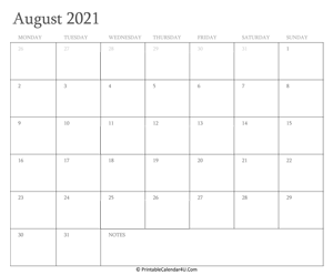 august 2021 calendar printable with holidays