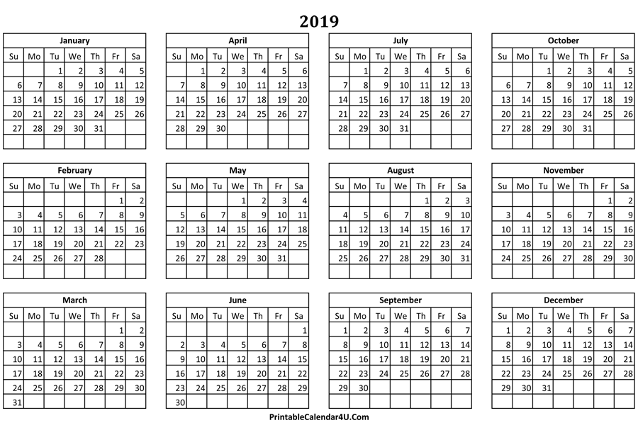 printable calendar 2019  2020