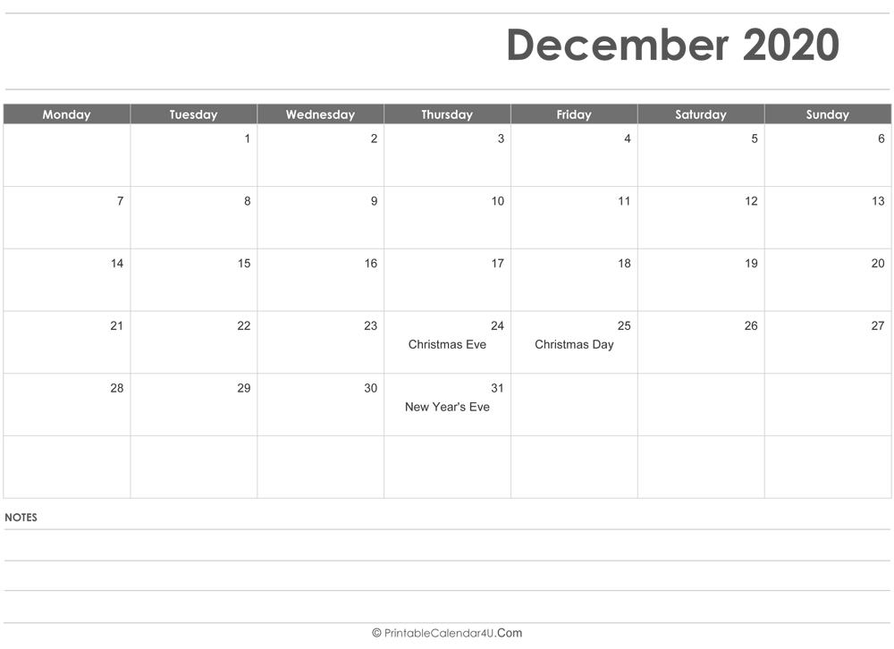 Writable Calendar 2022.Editable December 2020 Calendar