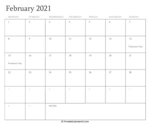 Editable Free Printable 2021 Calendar With Holidays ...