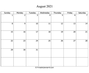 fillable 2021 calendar august