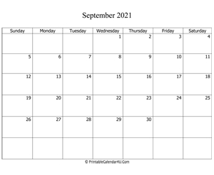 fillable 2021 calendar september